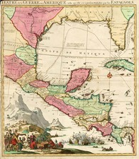 South, Southeast, Texas and Central America Map By Pieter Mortier