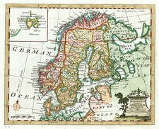 Europe, Baltic Countries and Scandinavia Map By William Guthrie