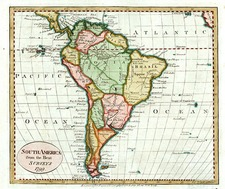 South America Map By John Payne