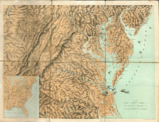 Mid-Atlantic and South Map By J. Schedler / Sarony, Major & Knapp
