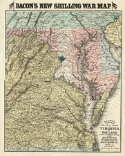 Mid-Atlantic and Southeast Map By Bacon & Co.