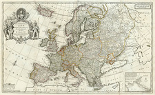 Europe and Europe Map By Herman Moll