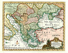 Europe, Russia, Balkans, Greece and Turkey Map By William Guthrie
