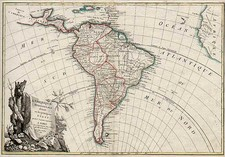 South America Map By Jean Janvier  &  Giovanni Antonio Rizzi-Zannoni