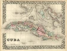 Caribbean Map By Samuel Augustus Mitchell Jr.