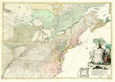 United States, Mid-Atlantic, Southeast and Midwest Map By Johann Christoph Rhode