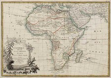 Africa and Africa Map By Jean Janvier  &  Giovanni Antonio Rizzi-Zannoni
