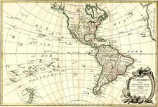 South America and America Map By Jean Janvier  &  Giovanni Antonio Rizzi-Zannoni