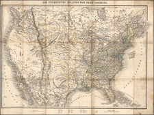 United States, Texas and Rocky Mountains Map By Traugott Bromme