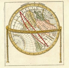 World and Eastern Hemisphere Map By Anonymous