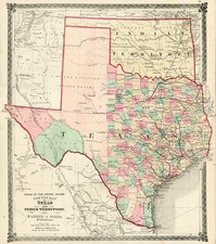 Texas, Plains and Southwest Map By H.H. Lloyd