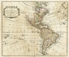 South America and America Map By Willem Albert Bachienne