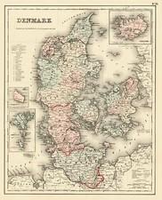 Scandinavia Map By Joseph Hutchins Colton