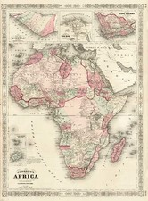 Africa and Africa Map By Alvin Jewett Johnson