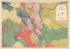 Rocky Mountains Map By U.S. Geological Survey / F.V. Hayden