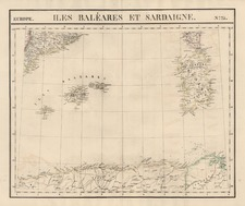 Europe, France, Spain and Balearic Islands Map By Philippe Marie Vandermaelen
