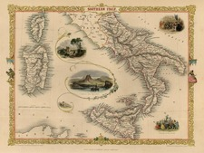Europe, Italy, Mediterranean and Balearic Islands Map By John Tallis