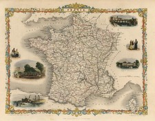 Europe and France Map By John Tallis