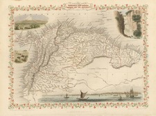 South America Map By John Tallis