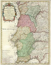 Europe and Portugal Map By Johann Baptist Homann / Jean-Baptiste Nolin