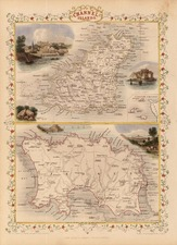 Europe and British Isles Map By John Tallis