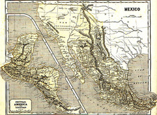 Southwest, Mexico, Central America and California Map By Sidney Morse  &  Samuel Breese