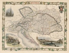 Europe and Austria Map By John Tallis