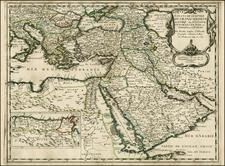Greece, Turkey, Mediterranean, Middle East and Turkey & Asia Minor Map By Nicolas Sanson