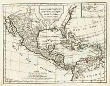 Southeast, Southwest and Mexico Map By Didier Robert de Vaugondy