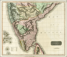 Asia and India Map By John Thomson
