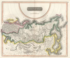 Europe, Russia, Asia, China, Central Asia & Caucasus and Russia in Asia Map By John Thomson
