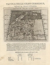 Europe, Germany, Baltic Countries and Scandinavia Map By Giovanni Antonio Magini
