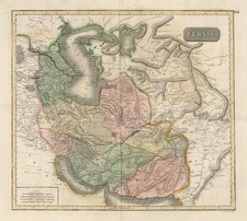 Europe, Asia, Central Asia & Caucasus and Middle East Map By John Thomson