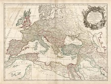 Europe, Europe and Mediterranean Map By Didier Robert de Vaugondy