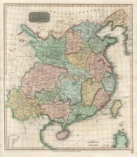 Asia and China Map By John Thomson
