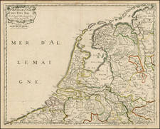 Netherlands Map By Nicolas Sanson