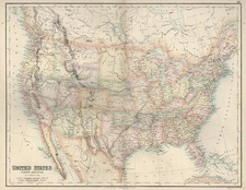 United States Map By Archibald Fullarton & Co.