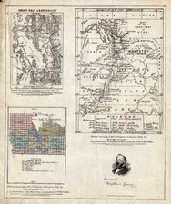 Southwest and Rocky Mountains Map By B.A.M. Froiseth