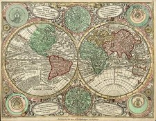 World and World Map By Matthaus Seutter