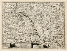 Hungary and Balkans Map By Vincenzo Maria Coronelli / Jean-Baptiste Nolin