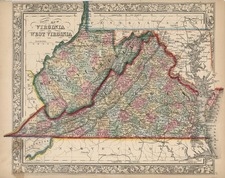 Mid-Atlantic and Southeast Map By Samuel Augustus Mitchell Jr.