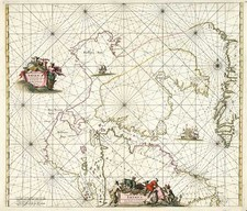 World, Polar Maps, Atlantic Ocean and Canada Map By Frederick De Wit