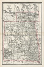 Plains and Rocky Mountains Map By People's Publishing Co.