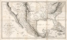 Texas, Southwest, Rocky Mountains and California Map By Alexander Von Humboldt