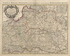 Europe, Poland, Russia and Baltic Countries Map By Johannes Covens  &  Pieter Mortier