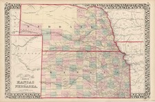 Plains Map By Samuel Augustus Mitchell Jr.