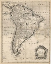 South America Map By Richard William Seale