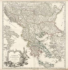 Europe, Balkans, Turkey and Balearic Islands Map By Didier Robert de Vaugondy