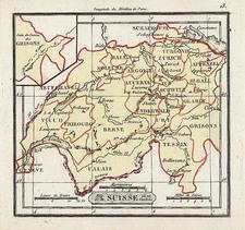 Europe and Switzerland Map By Denisle-Tardieu