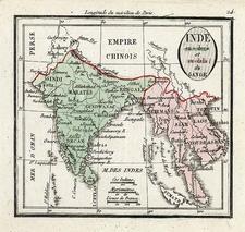Asia, India and Southeast Asia Map By Denisle-Tardieu